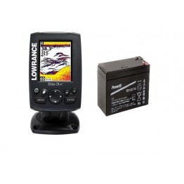 Lowrance HOOK 3X fish finder inkl. transducer og batteri
